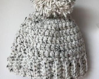 Knit Pom-Pom Hat