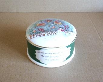 Wedgwood 12 Days of Christmas 2 Turtle Doves Box