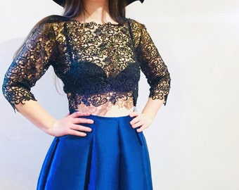 Macrame Lace Top - Lace Top - Crop Top