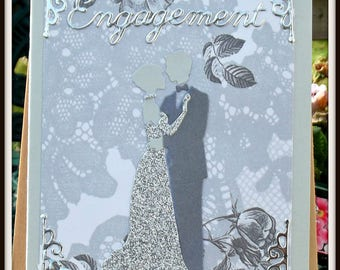 Grey/Silver Engagement card man/woman/engagement/grey/silver
