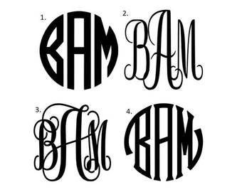Personalized monogrammed quality vinyl decal