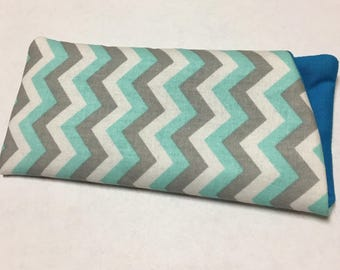 Fabric Glasses/Sunglasses Case - Blue and White