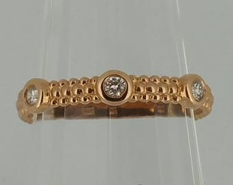 14KT Rose Gold and Diamond Band