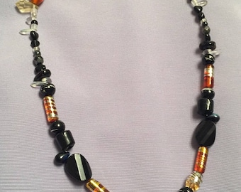 Handmade glass bead necklace