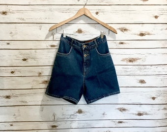 Vintage Lawman Denim Shorts, Vintage High Waist Lawman Western Denim Jean Shorts, NOS Lawman Denim Jean Shorts Size 5
