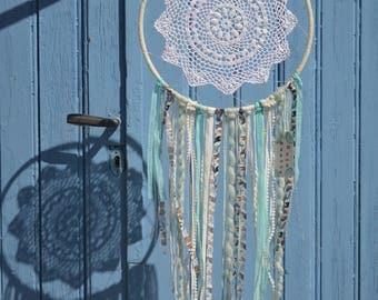 Dream catcher in blue and white