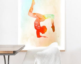 Relaxation gifts, Relaxation wall art, relaxing wall decor, Yoga pose wall decor, Yoga wall decor, Yoga designs decor, Yoga balance poses