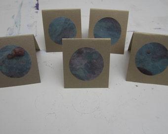 5 Pack of Handmade Greetings Cards #1