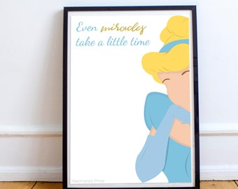 Disney's Cinderella illustration Print/Poster-A4