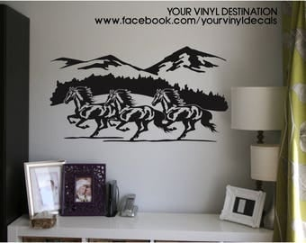 Running Horses Decal