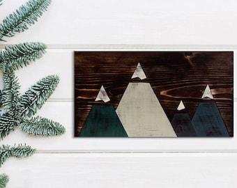 Rustic Mountain Wood Art
