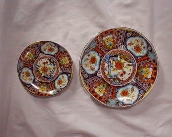 Vintage Set of Japanese Decorative Plates- Imari Ware