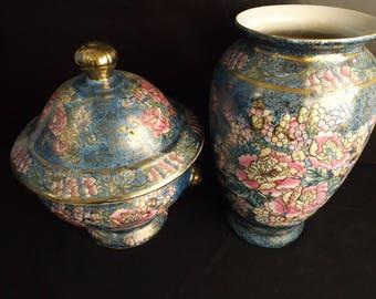 Vintage Chinese Flower Vases