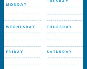 Meal Planner- Printable Download
