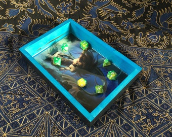 Triton and the Mermaid - Personal Dice Rolling Tray