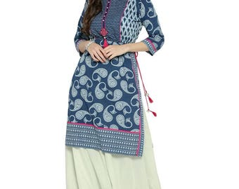 Cotton printed ethnic Kurti/Tunic | summer collection | classic look | skrit style |