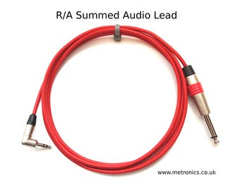 Right Angle Summed Audio Lead for Korg Volca Series Synth Machines by Metronics