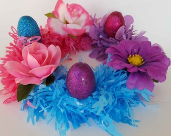 Easter spring wreath.