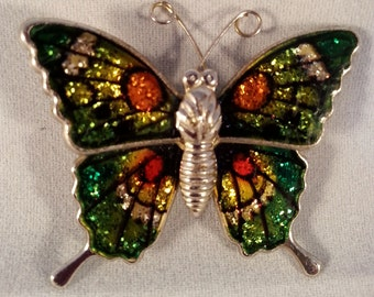 Vintage Butterfly Brooch, Butterfly Pin, Vintage Jewelry, Flying Insect Pin Gift