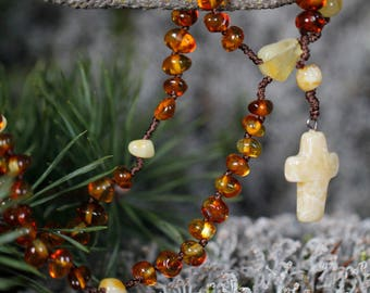 Goddaughter gifts for Baptism, Baptism gift, Goddaughter gift, Goddaughter jewelry, Amber rosary for goddaughter, Christening gift, Baptism