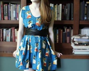 Swing Dress - Blue Block Geshia portraits