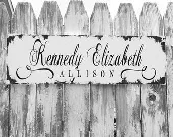 CUSTOM NAME SIGN   Personalized with Babys Name   Wooden Name Sign   Nursery Decor   Photo Prop   Wall Art   Hand Painted  Baby Shower Ideas