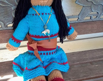 Southwest Sweetbear Rustic Knitted Doll