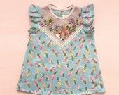 Fox & feather spring/summer dress