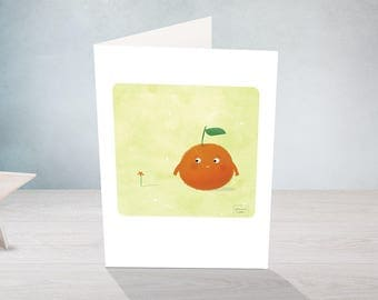 Cute clementine - greeting card - for any occasion
