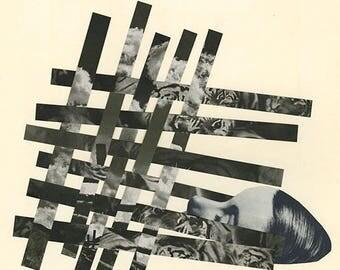 Dream weaver. Original collage by Vivienne Strauss.