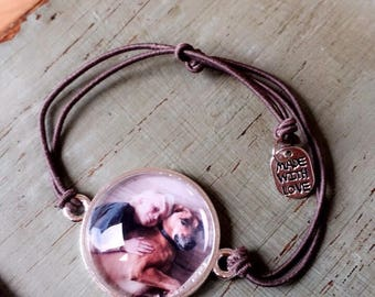 Custom Image Picture Bracelet l Adjustable Elastic Band Fits Most l Birthday, Grandma, Mother's Day, Children, Baby, Bridesmaid, In Memory