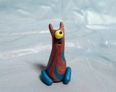 Cat-eared Cyclops - Feeping Creatures polymer clay monster figurine