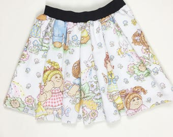 CABBAGE PATCH Skirt, Handmade 80s Skirt, 80s Fashion, Vinatge clothing, DIY Skirt, Womens Cabbage Patch Skirt, Upcycled skirt