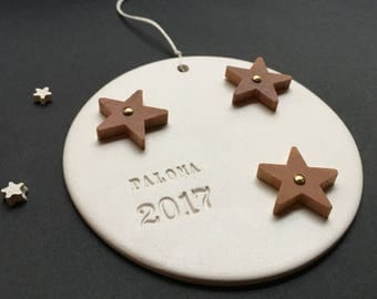 Custom Wooden Stars Ornament with personalization by Paloma's Nest