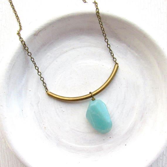 Slide Necklace > Amazonite