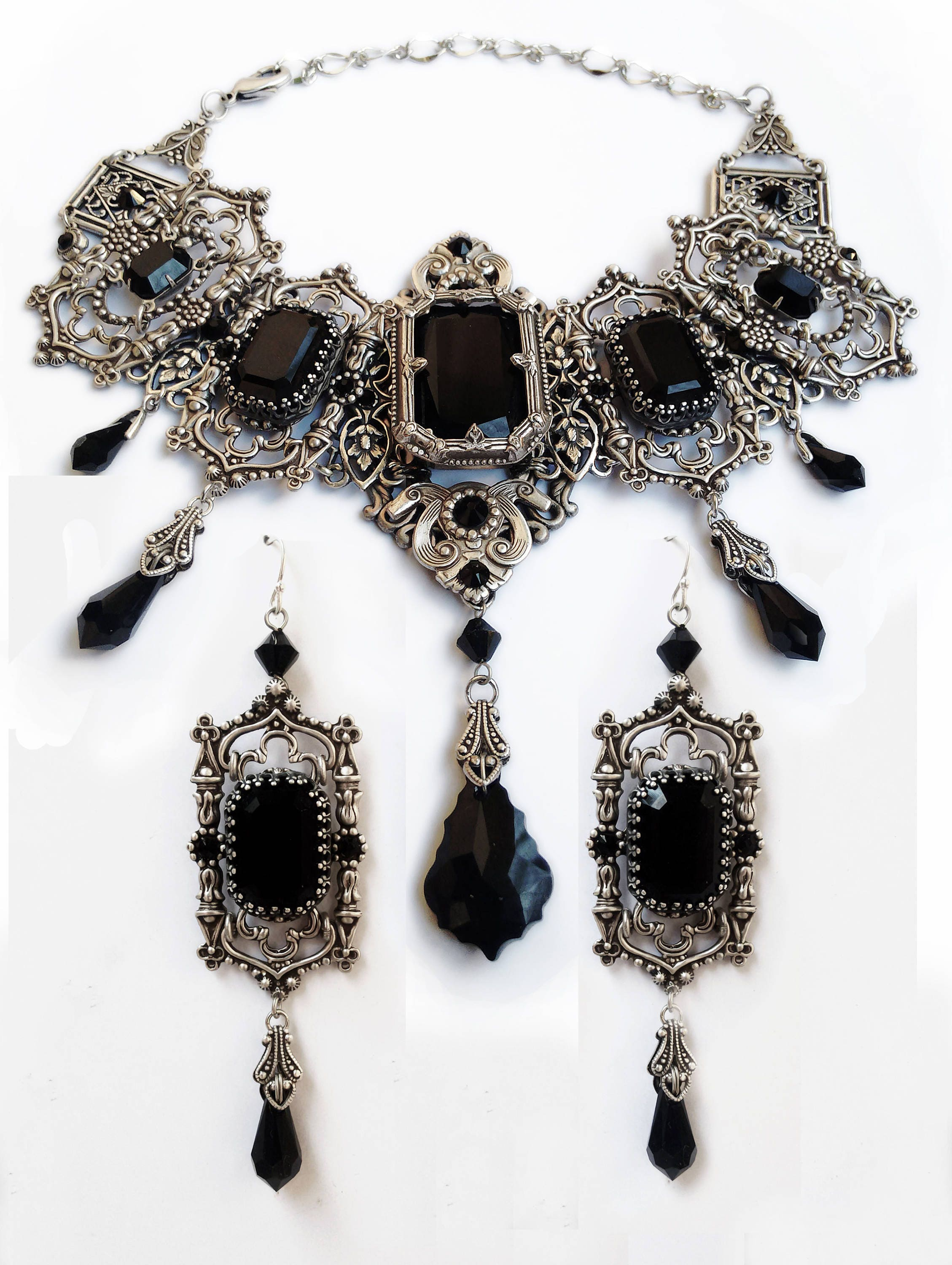 Victorian Gothic Jewelry Vintage Style Bridal Jewelry by Aranwen