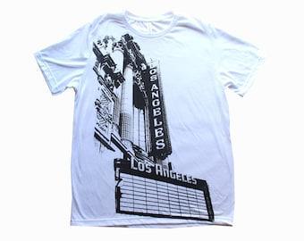 Los Angeles Theater Tshirt - Los Angeles Signage - Streetwear - Los Angeles Tshirt - Downtown Los Angeles - LA shirt - Unisex Urban Gear