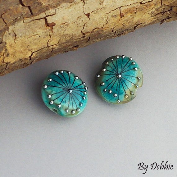 Lampwork Beads Handmade Glass Beads Artisan Beads Beaded Earrings Jewelry Supply Beads For Jewelry Custom Jewelry Glass Debbie Sanders