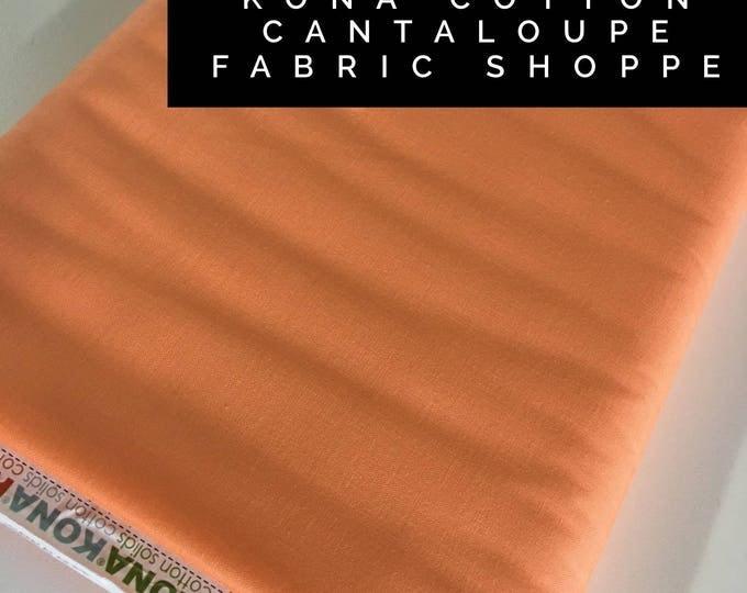 Kona cotton solid quilt fabric, Kona CANTALOUPE 159, Solid fabric Yardage, Kaufman, Quilting Cotton fabric, Choose the cut