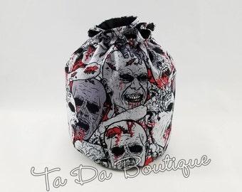 Walker Zombie Round bottom Drawstring/Dice bag