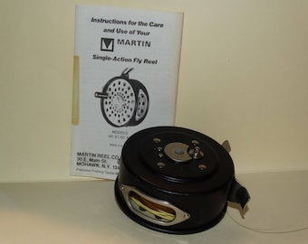 Vintage Martin No. 61 Single Action Fly Fishing Reel. Nice Collectible, Fly Fishing, Reel , Single Action Fly Reel, Precision Fishing Tackle