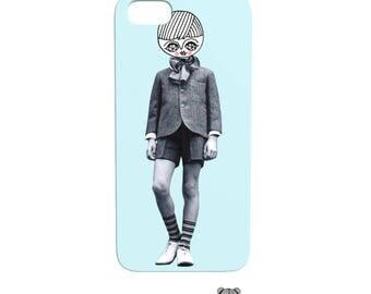 Vintage boy - Phone Case - iphone - samsung - vintage photography - collage