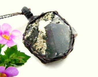 Gift for yogi, Fluorite Necklace / Fluorite pendant / Fluorite jewelry / Yoga Gift / Healing Stones and crystals / Spiritual jewelry