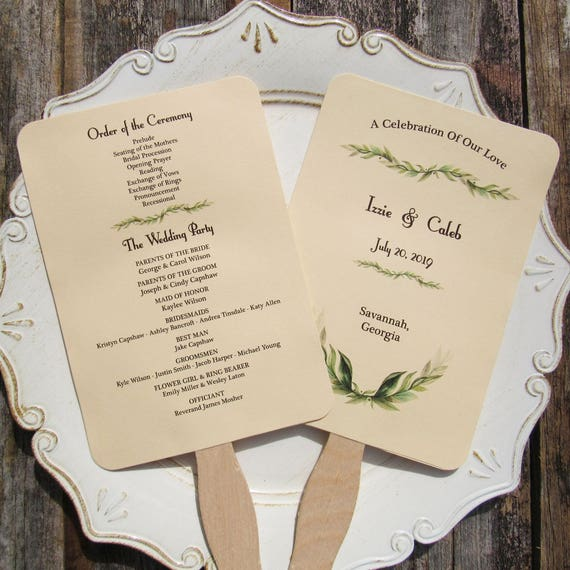 Wedding Program | Wedding Program Fan Wedding Programs Wedding Hand Fans