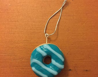 Blue Raspberry Donut Ornament