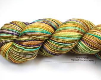Summer Vacation--hand dyed sock weight yarn, 2 ply merino, cashmere, nylon (400yds/100gm)