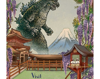 The Land of Kaiju- 13 x 19 Signed Print