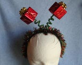 Ugly Christmas Headband Tacky Sparkly Christmas Presents Headband Ugly Party Accessories Ugly Sweater Free Shipping Headband Boppers Bows