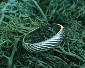 Solid Silver Band * Sterling Silver Ring * Stacker Ring * SS Band with a Pattern * Friendship Ring * Handmade in North America