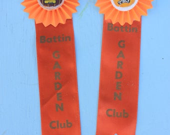 Vintage Style Halloween - Garden Club Ribbon Badge with Pumpkin Face, ONE